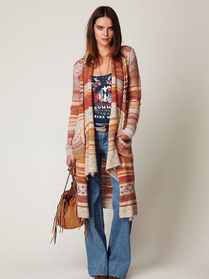 "The ""Fairisle Long Cardigan"" from www.freepeople.com"