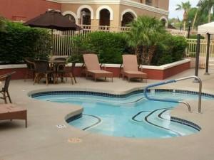 Poolside/hot tub
